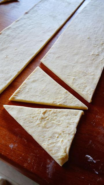 croissant foto 8 cortando os triangulos